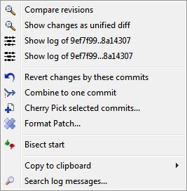 Log Dialog – TortoiseGit – Documentation – TortoiseGit – Windows