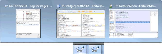 Taskbar with repository grouping